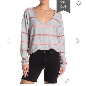 Free People Make You Mine Stripe Sweater